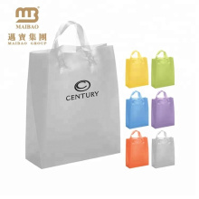 Competitive price gravure printing HDPE material carrying handle plastic bag for shopping